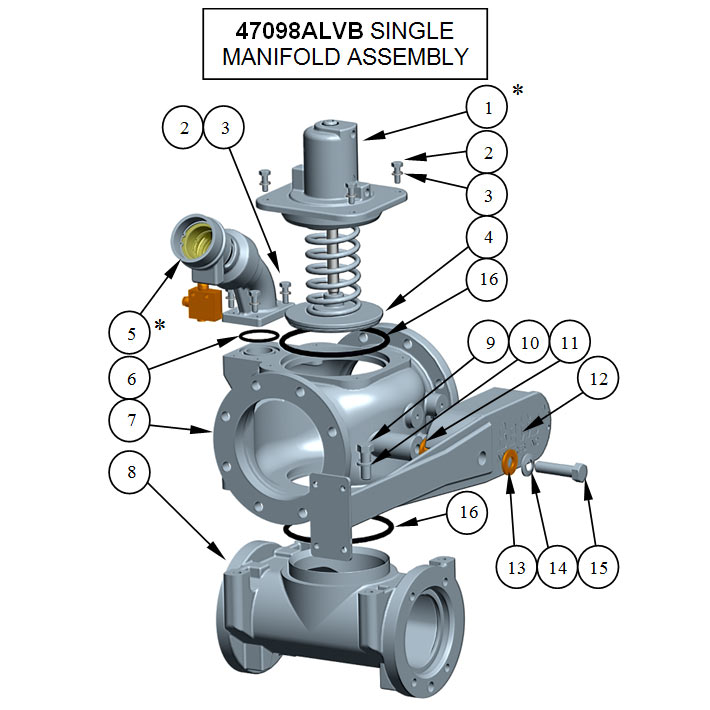 47098ALVB SINGLE MANIFOLD ASSEMBLY