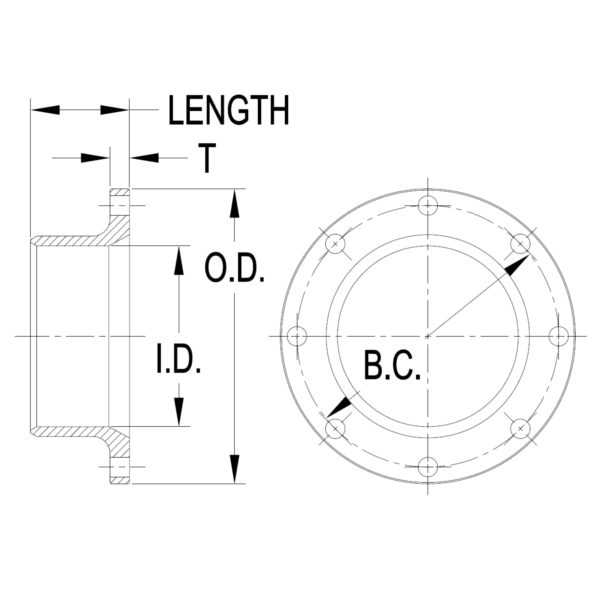 WD Piping Flange Dims